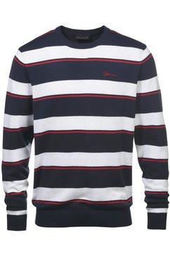 john devin tricot-trui met strepen blauw