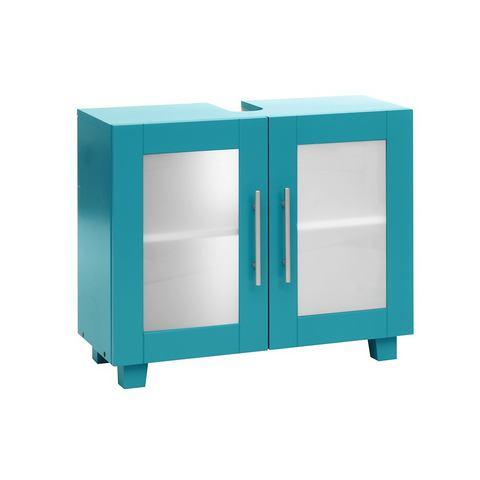 Wastafelonderkast blauwe badkamer onderkast 35