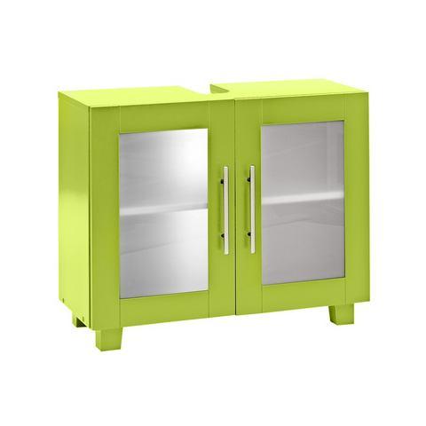 Wastafelonderkast groen badkamer onderkast 156