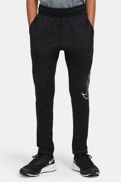 nike trainingsbroek »nike therma big kids' graphic tapered training pants« zwart