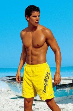 zwemshort, kangaroos geel
