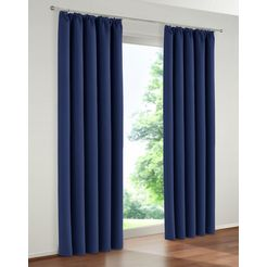 gordijn, »solana«, my home, rimpelband, set van 2 blauw