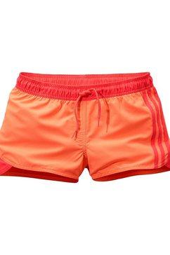 adidas performance zwemshort met contrast-detail oranje