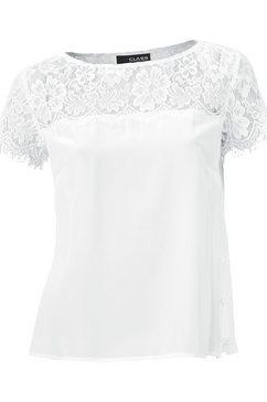 zijden blouse wit