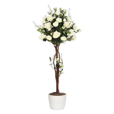 Kunstplant Rozenboom met natuurlijke stam