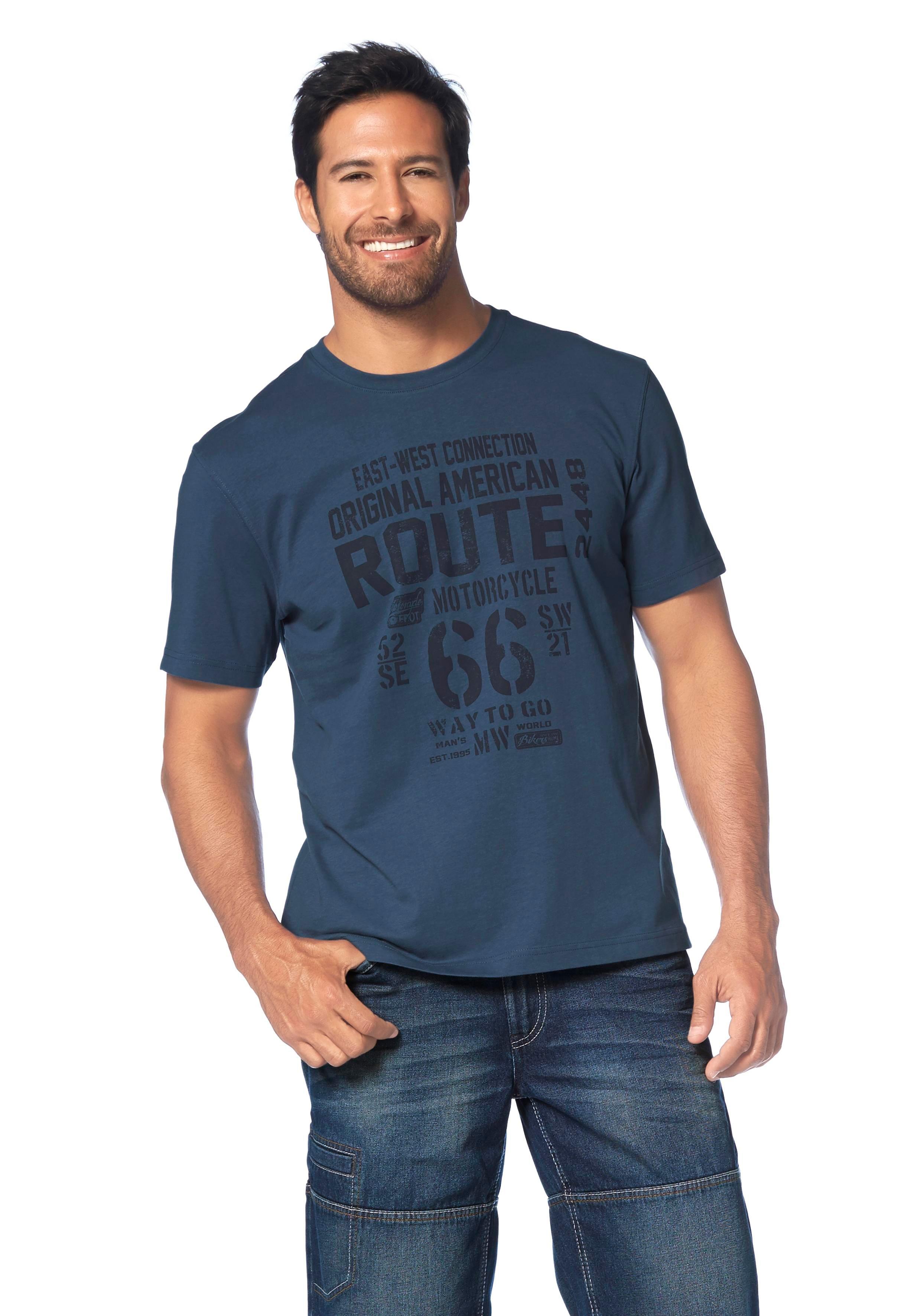 Man's World T-shirt met print op borsthoogte in de webshop van OTTO kopen