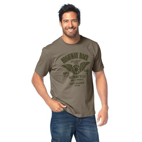 MAN'S WORLD T-shirt met ronde hals