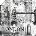 artland artprint londen skyline abstracte collage 04 in vele afmetingen  productsoorten -artprint op linnen, poster, muursticker - wandfolie ook geschikt voor de badkamer (1 stuk) zwart