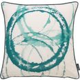 emotion textiles kussenovertrek aquarelcirkels (1 stuk) groen