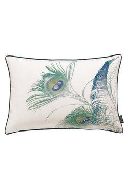 kussenovertrek, emotion textiles, »pauwenveer« blauw