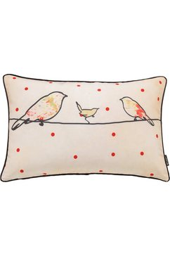 kussenovertrek, emotion textiles, »crazy birds« oranje