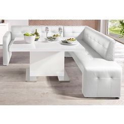 exxpo - sofa fashion hoekbank barista vrij verstelbaar in de kamer wit
