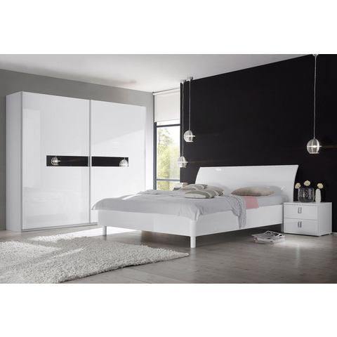 Kledingkasten Zweefdeurkast met fronten in hoogglans-wit 422935