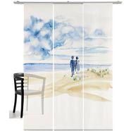 emotion textiles paneelgordijn together hxb: 260x60 (3 stuks) blauw