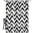 emotion textiles paneelgordijn zigzag batik hxb: 260x60, inclusief bevestigingsmateriaal (3 stuks) zwart
