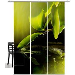 paneelgordijn, emotion textiles, »ochtenddauw« (3-dlg., incl. montageset) groen