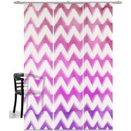 paneelgordijn, emotion textiles, »zigzag« (3-dlg., incl. montageset) paars