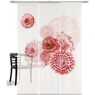 emotion textiles paneelgordijn batikbloem hxb: 260x60, inclusief bevestigingsmateriaal (3 stuks) rood