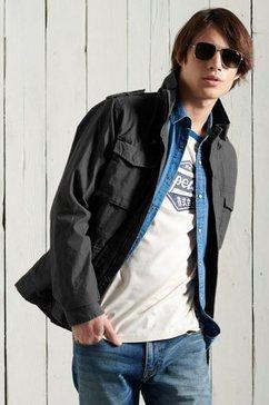 superdry field-jacket »classic rookie jacket« zwart