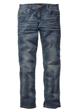 john devin straight fit-jeans in used-wassing blauw