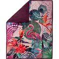 hip plaid sirke met mandala en flamingo multicolor