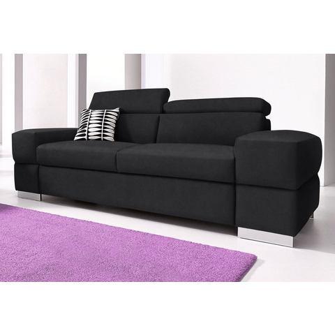 woonkamer driepersoons bankstel zwart Luxe microgaren COTTA in 4 bekledingskwaliteiten