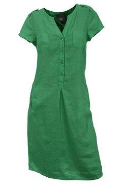 linnen jurk groen