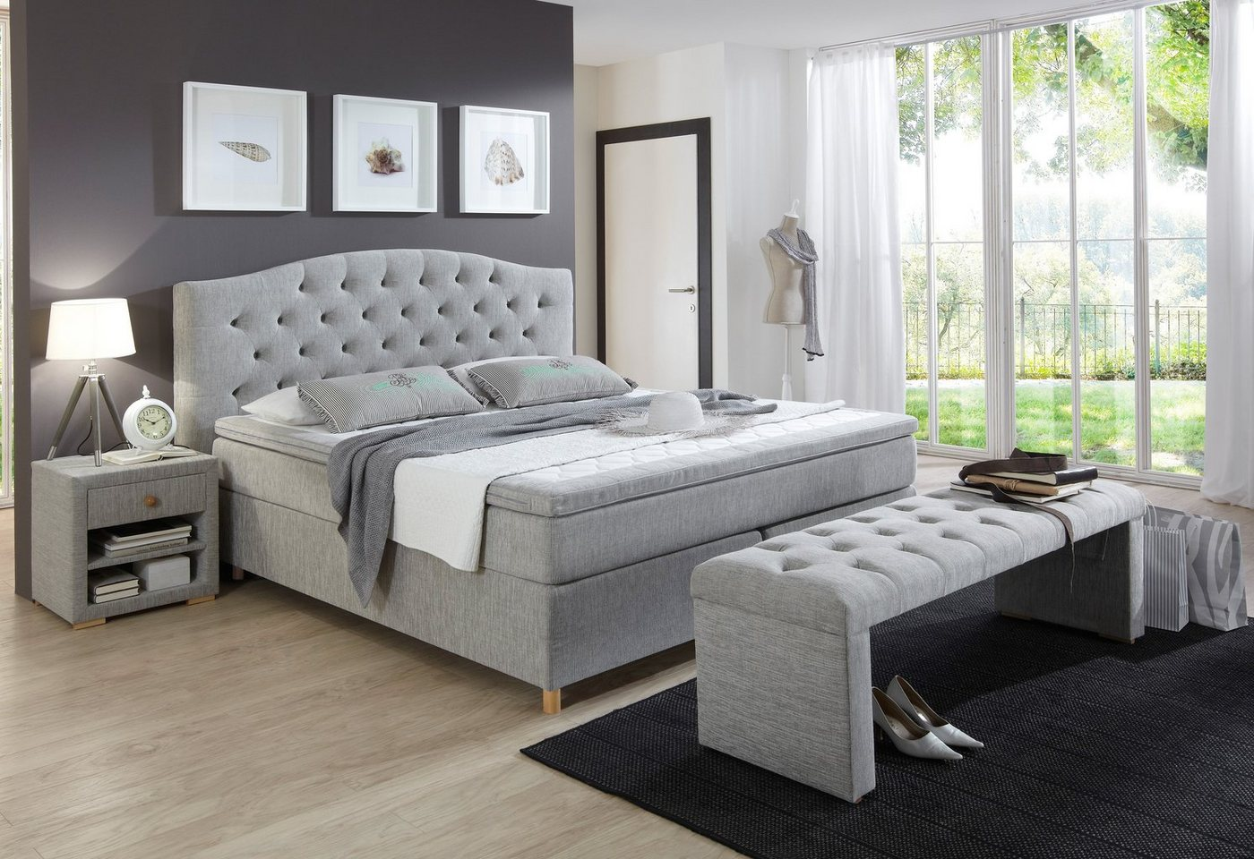 Boxspring incl. topper, HOME AFFAIRE, Claire