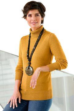 trui van katoen en polyacryl geel