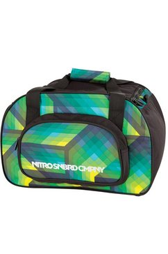 nitro reistas, »duffle bag xs - geo green« multicolor