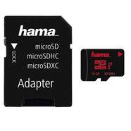 hama microsdhc 16 gb uhs speed class 3 uhs- i 80 mb-s »geheugenkaart + adapter-mobiel« zwart