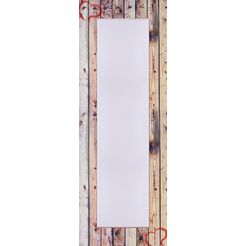 home affaire spiegel »oude houten wand met hart«, 50x140 cm beige
