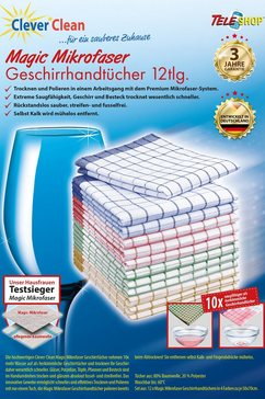 CleverClean®Magic Microgaren-theedoek (set van 12)