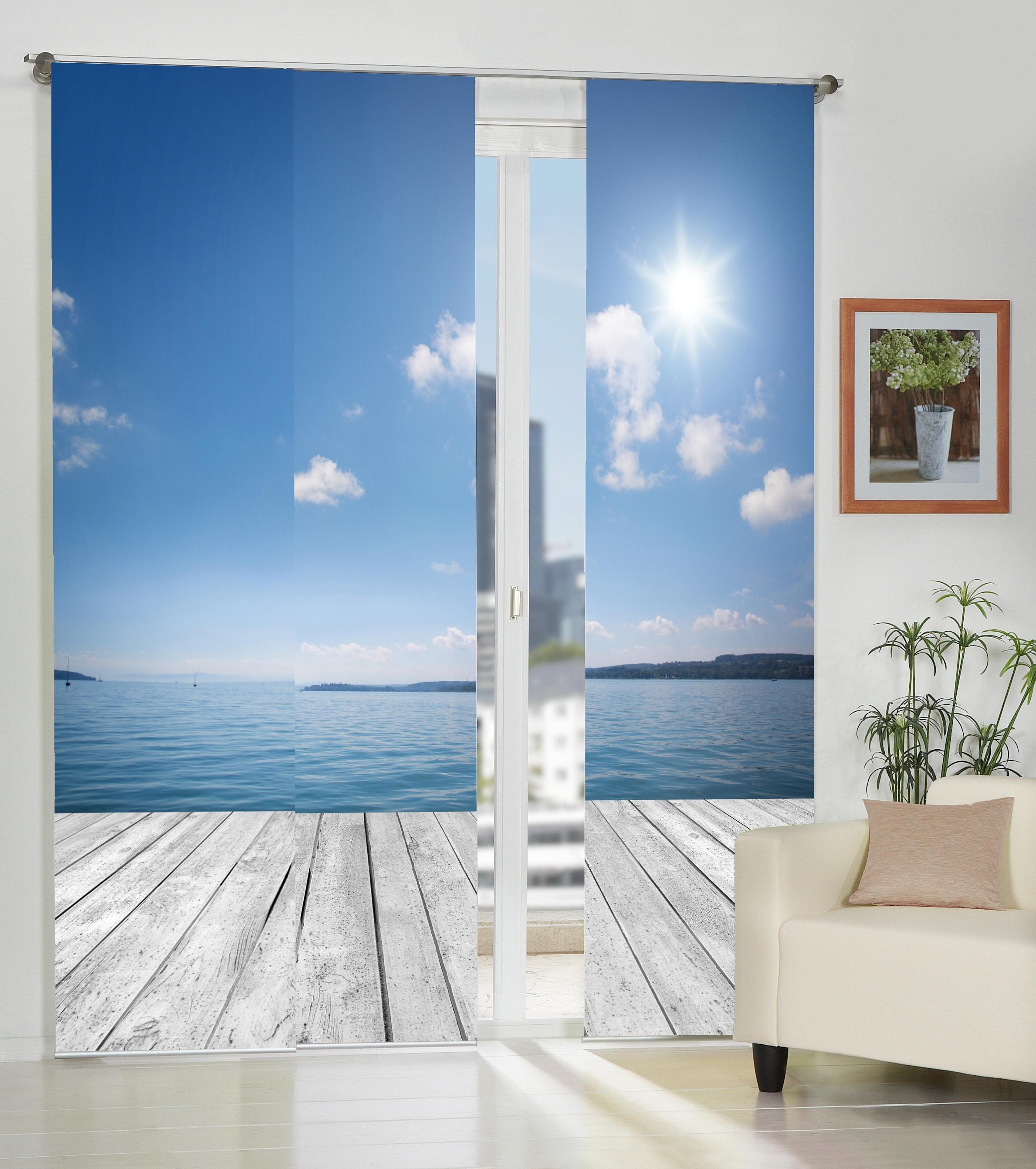 home wohnideen paneelgordijn franconia set van 3 online shop otto. Black Bedroom Furniture Sets. Home Design Ideas