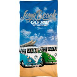 volkswagen strandlaken long beach california met belettering (1 stuk) multicolor