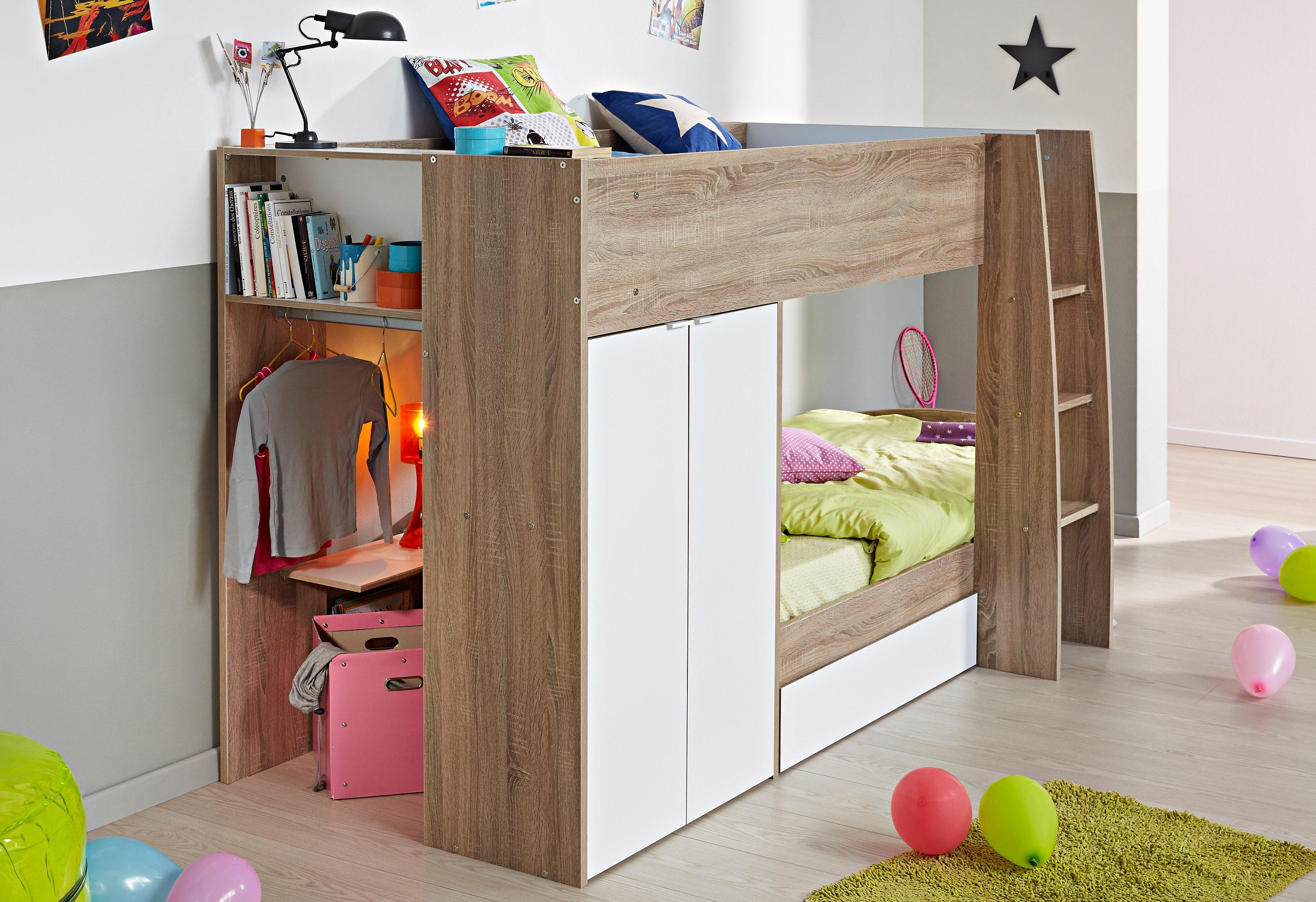 Hoogslaper Met Kastruimte : Mooi foto van smalle slaapkamer met hoogslaper u homebody