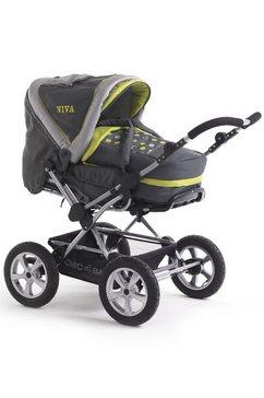 chic 4 baby combi-kinderwagen viva lemontree grijs