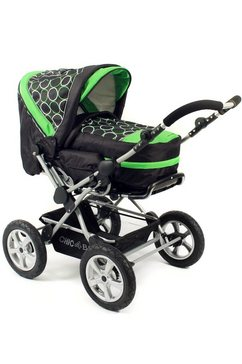 chic 4 baby combi-kinderwagen viva orbit green zwart
