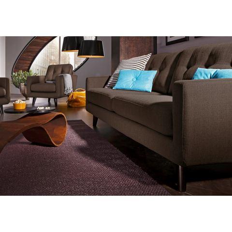 woonkamer driepersoons bankstel bruin Structuurstof INOSIGN in 3 bekledingskwaliteiten