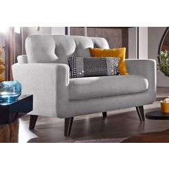 inosign loungestoel in 3 bekledingskwaliteiten grijs
