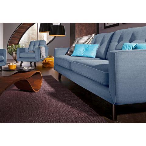 woonkamer driepersoons bankstel blauw Structuurstof fijn INOSIGN in 3 bekledingskwaliteiten