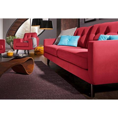 woonkamer driepersoons bankstel rood Microgaren ALCAZAR INOSIGN in 3 bekledingskwaliteiten