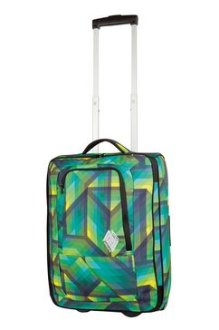 nitro reistrolley met 2 wieltjes, »team carry on bag - geo green« multicolor