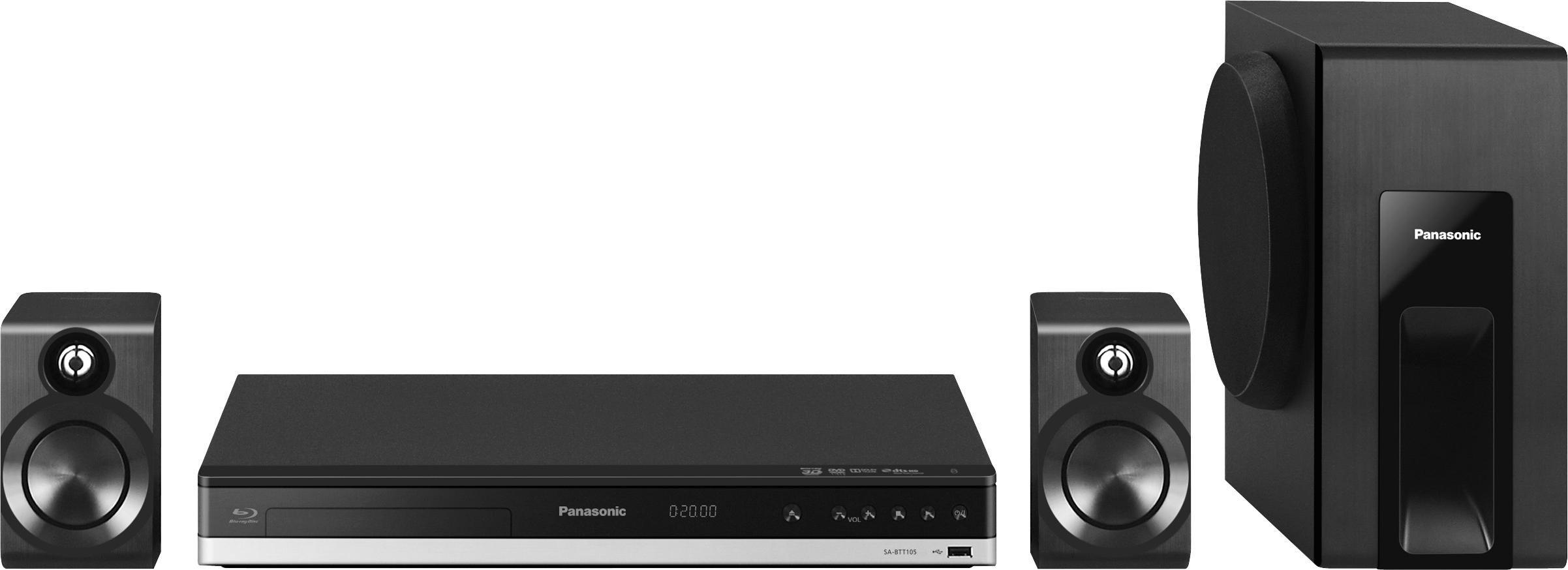 Panasonic »SC-BTT105« 2.1-thuisbioscoop (3D-blu-rayspeler, 300 W, wifi, NFC, bluetooth) nu online kopen bij OTTO