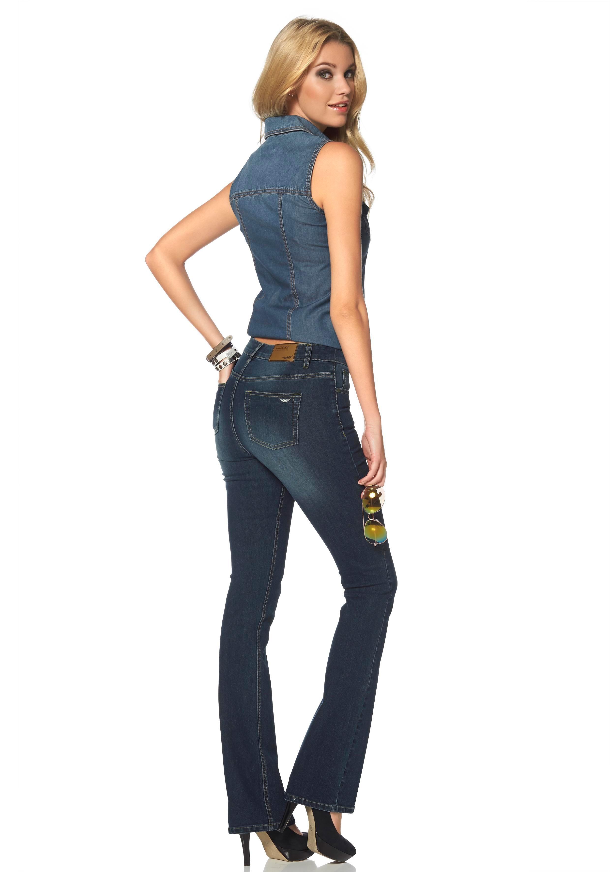 arizona high waist jeans bootcut online shop otto. Black Bedroom Furniture Sets. Home Design Ideas