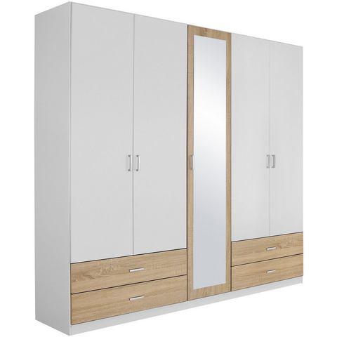 Garderobekast met spiegel en laden