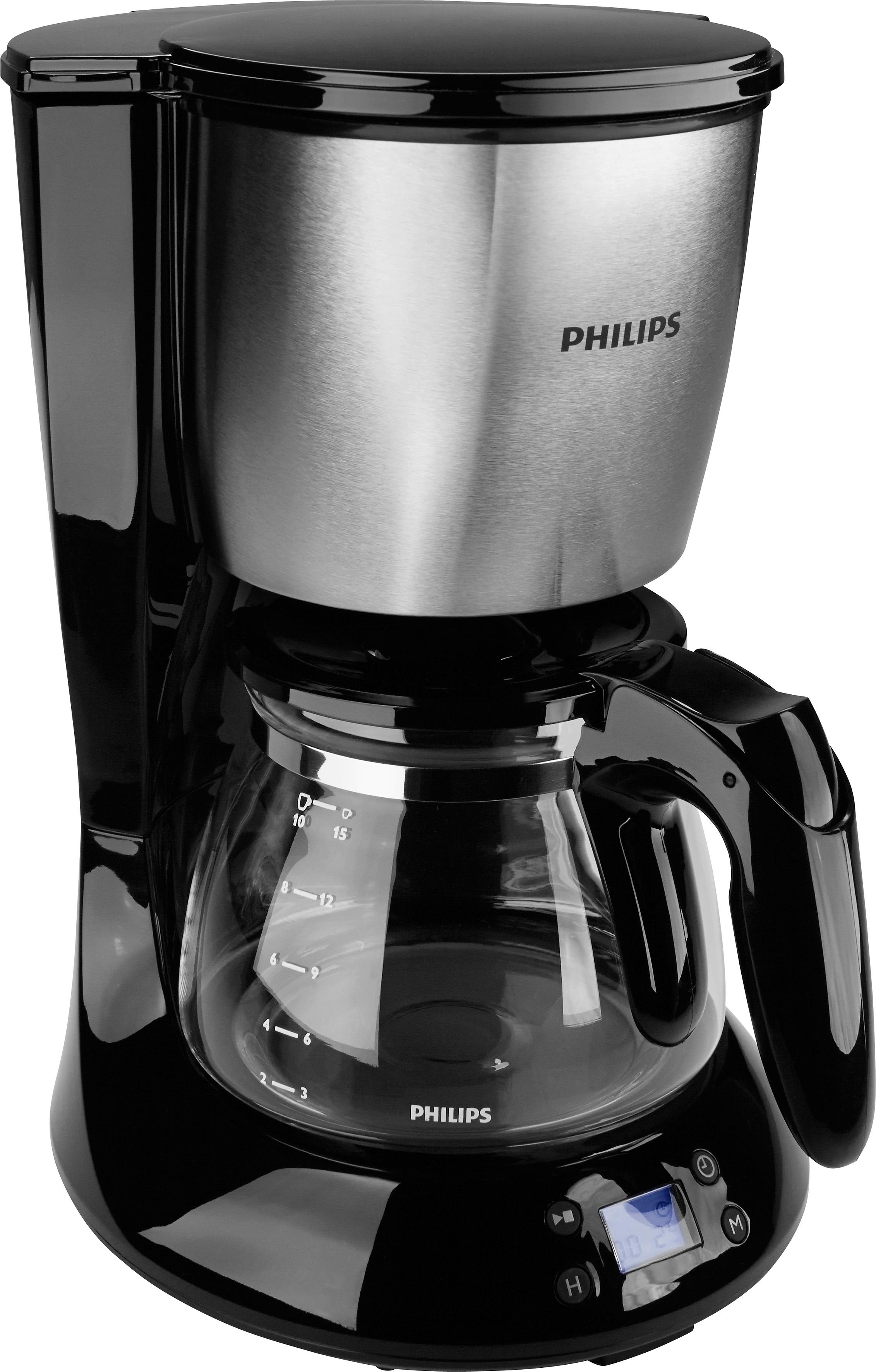 Philips Koffiezetapparaat Daily Collection HD7459/20, met glazen kan, zwart/metaal - gratis ruilen op otto.nl