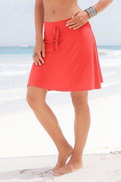 beach time rok met tunnelkoord rood