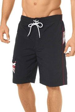lonsdale dawlish short met logoprint zwart