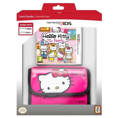3DS Game Hello Kitty, Happy Family + draagtas